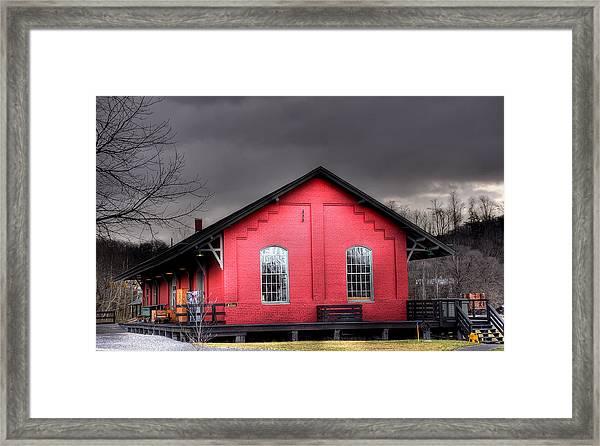 Station House Framed Print