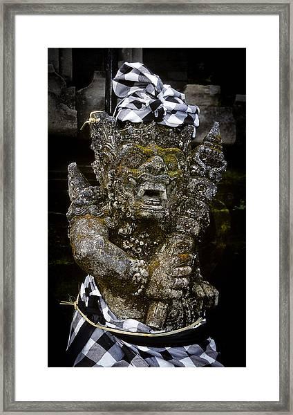 Statue Formalwear Framed Print