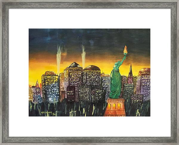 Statue Liberty Framed Print