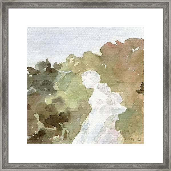 Statue Of A Woman Watercolor Paintings Of France Framed Print