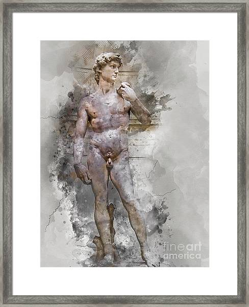 Statue Of David Framed Print