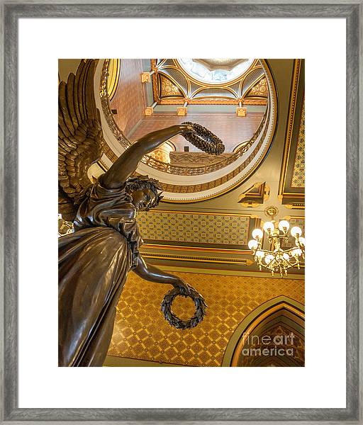 Statue Of Genius Vertical Framed Print