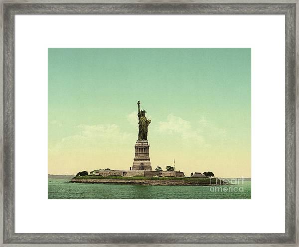 Statue Of Liberty, New York Harbor Framed Print