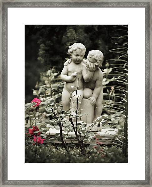 Statue Of Love Framed Print