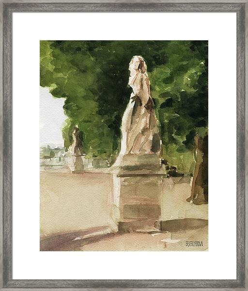 Statues Jardin Du Luxembourg Framed Print