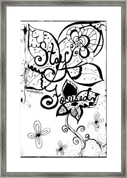 Framed Print featuring the drawing Stay Focused by Rachel Maynard