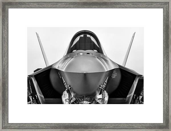 Stealth Lightning Framed Print
