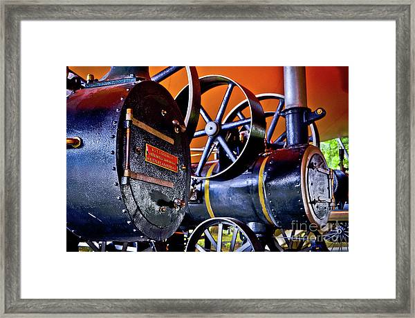 Steam Engines - Locomobiles Framed Print