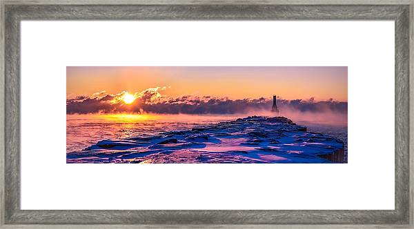 Steam Fog Two Panorama Framed Print
