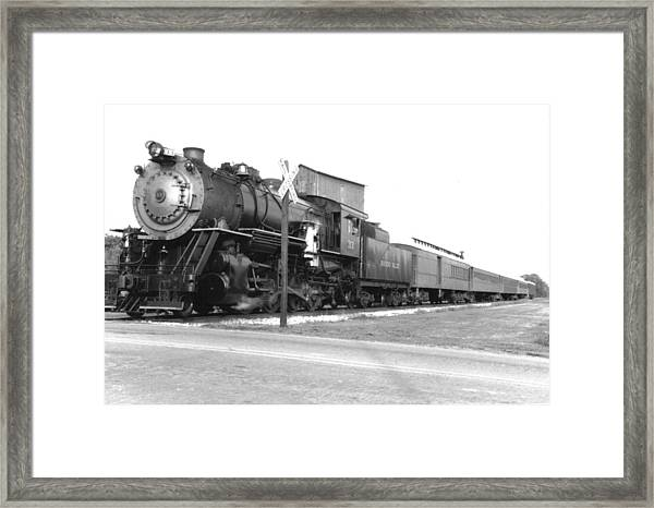 Steam In Motion Framed Print