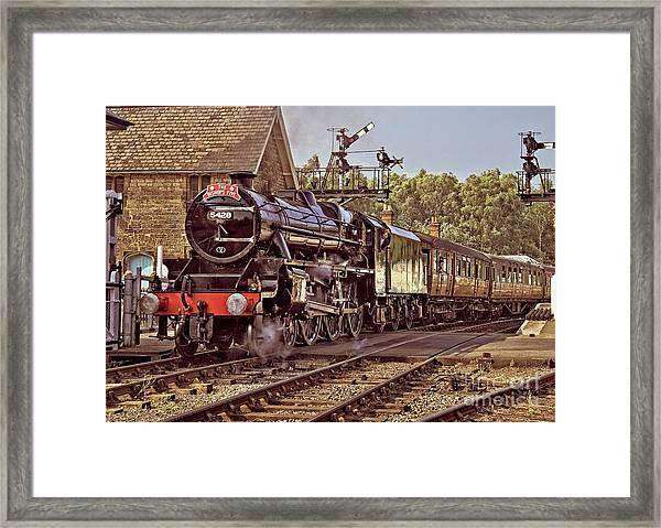 Steam Loco On Yorkshire Railway Framed Print
