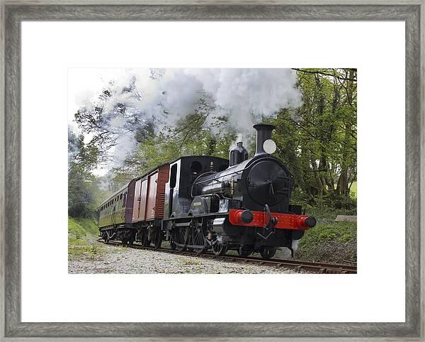 Steam Locomotive 3298 In Cornwall Framed Print