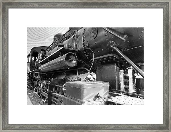 Steam Locomotive Side View Framed Print