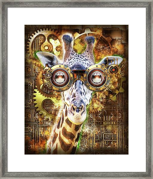 Steam Punk Giraffe Framed Print