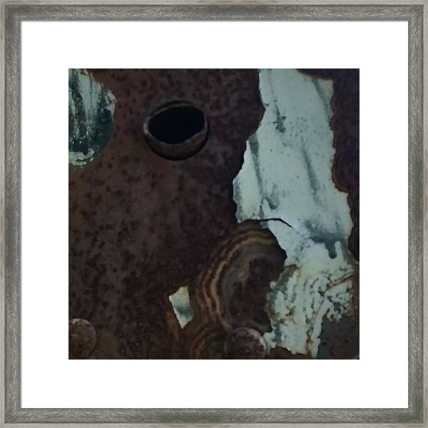 Rusted Away Framed Print