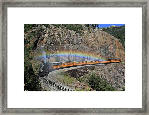 Steam Rainbow Framed Print