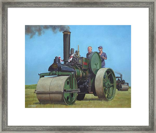 Steam Roller Traction Engine Framed Print