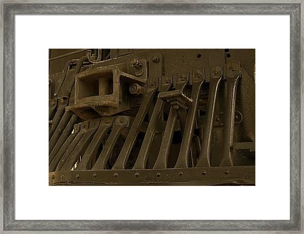 Steam Train Cow-pusher Framed Print