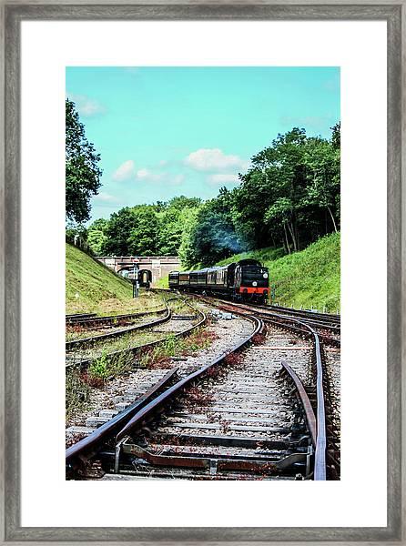 Steam Train Nr The Bridge Framed Print