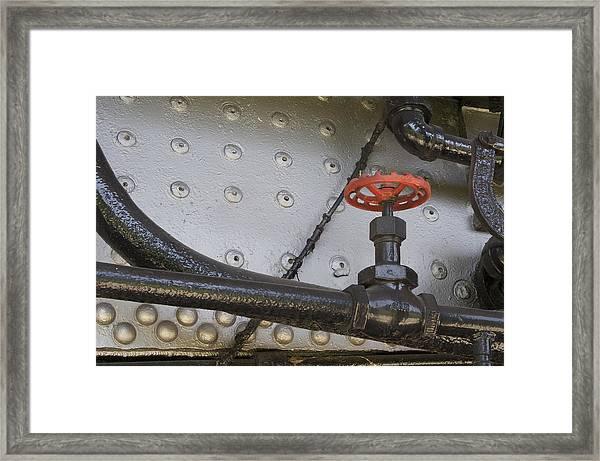 Steam Train Valve Framed Print