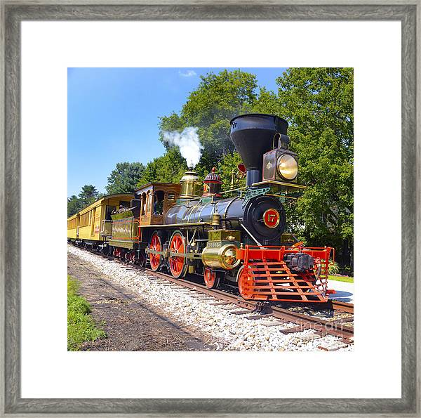 Steaming Into History Framed Print