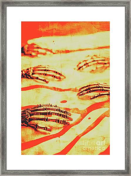 Steampunk Robotic Horror Framed Print