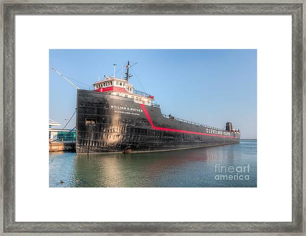 Steamship William G. Mather I Framed Print