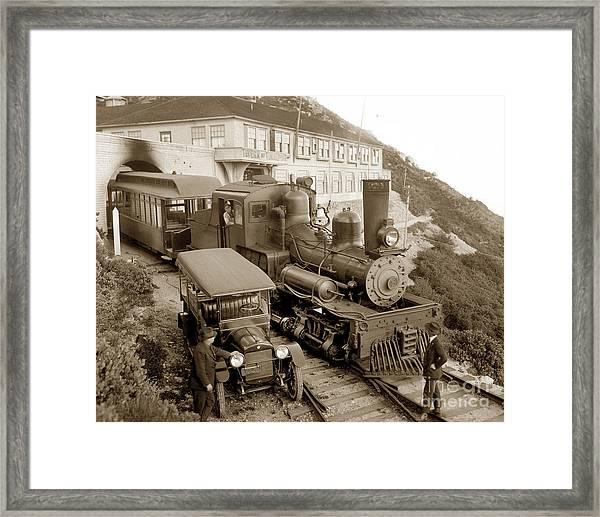 Stean Engine No. 8 Mount Tamalpais Circa 1920 Framed Print