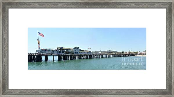 Stearns Wharf 2 Framed Print