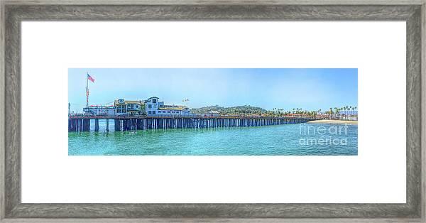 Stearns Wharf Framed Print