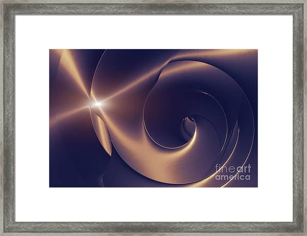 Steel Abstraction Framed Print