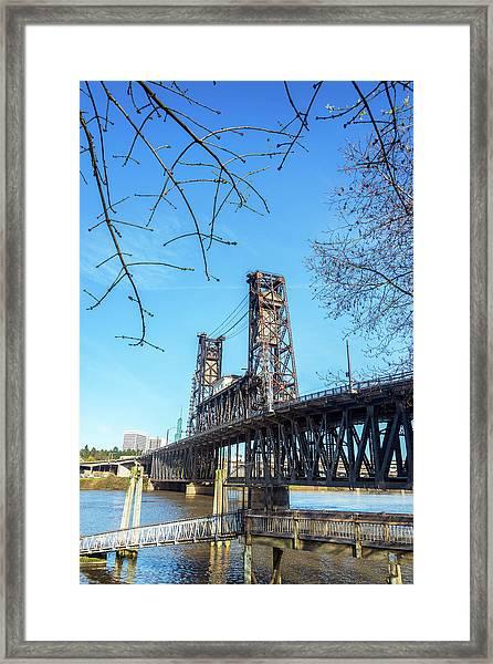 Steel Bridge Vertical Framed Print
