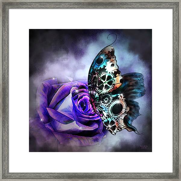 Steel Butterfly Framed Print