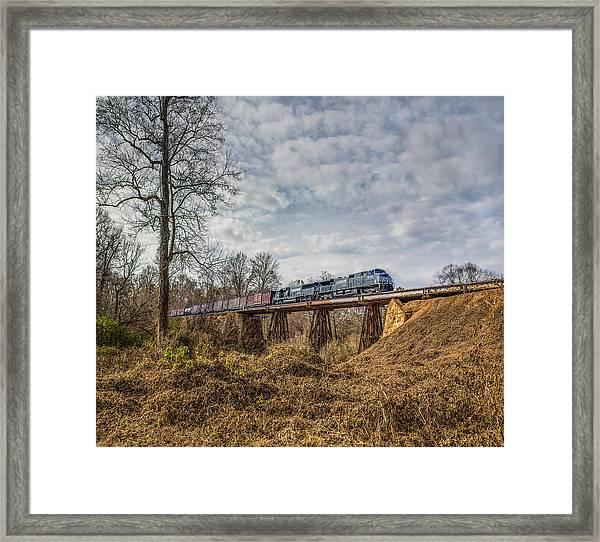 Steele Creek Trestle Panorama Framed Print