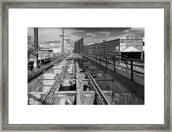 Steelyard Tracks 1 Framed Print