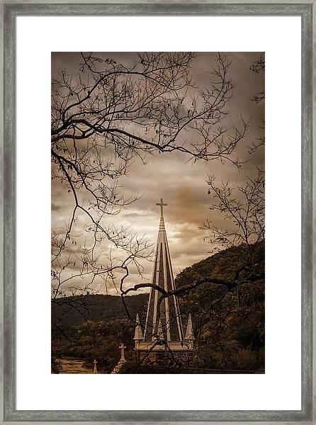 Steeple Of Time Framed Print