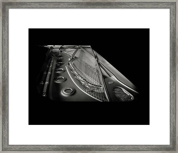 Steinway Guts Bw Framed Print