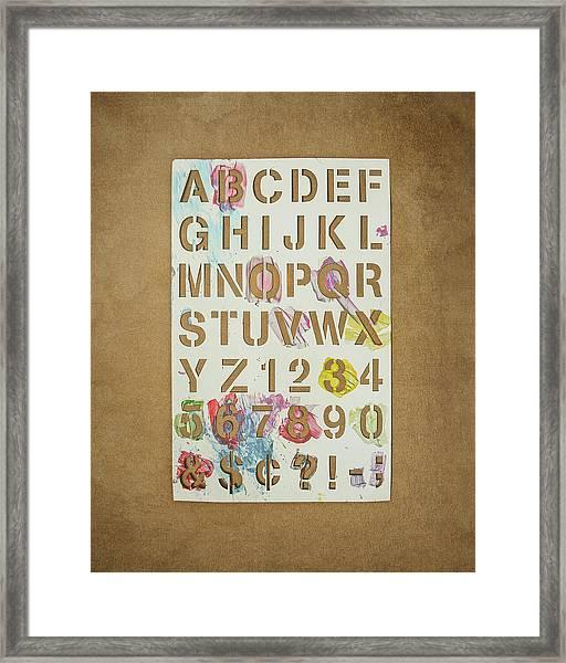 Stencil Alphabet Fun Framed Print