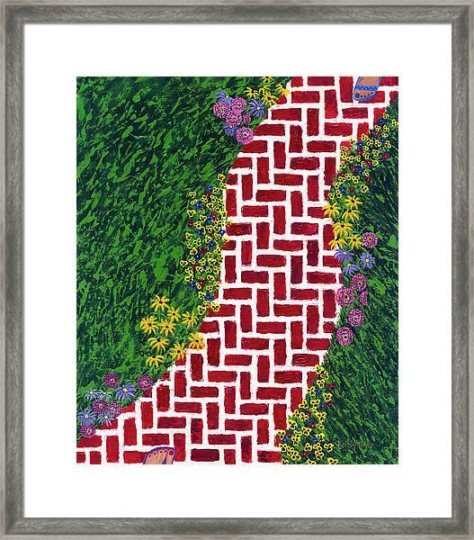Step Into My Garden Framed Print