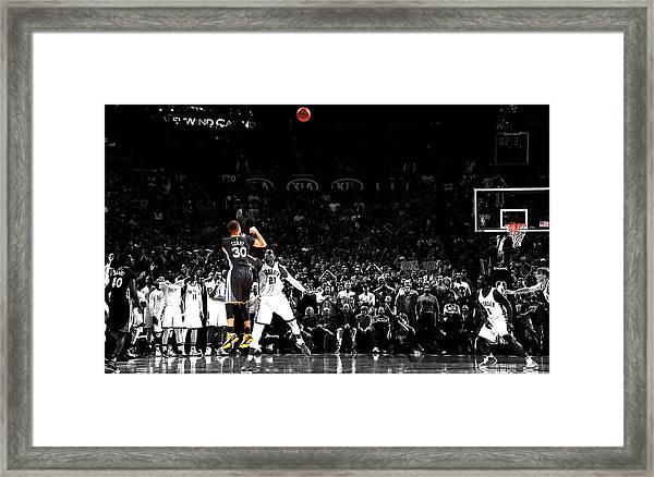 Steph Curry Its Good Framed Print