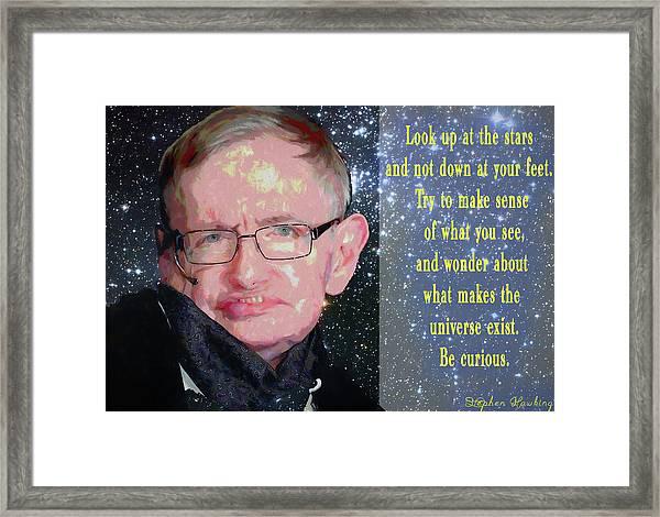 Stephen Hawking Poster Framed Print