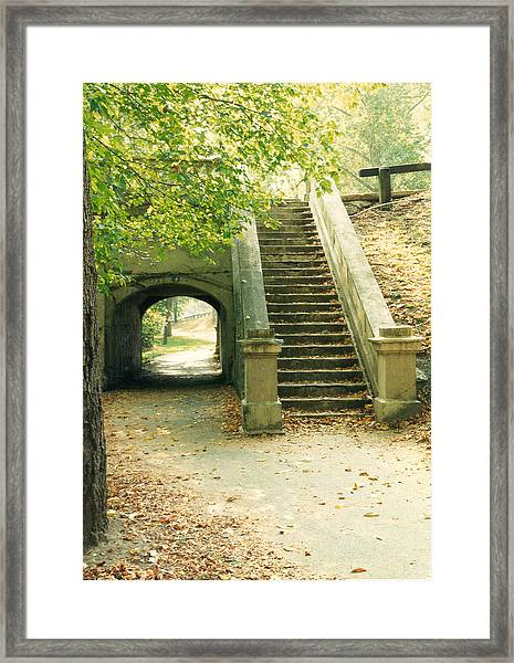 Steps And Tunnel Framed Print
