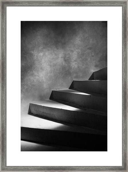 Steps Of Light Framed Print