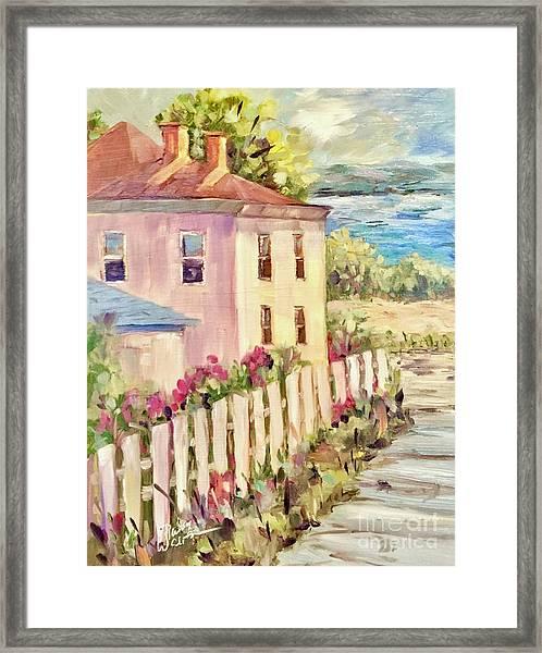 Steps To The Hudson Framed Print