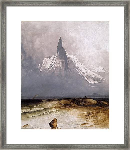 Stetind In Fog Framed Print