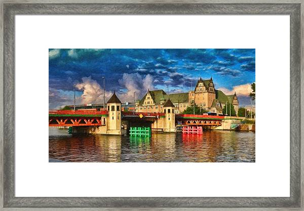 Stettin Bridge - Pol890431 Framed Print