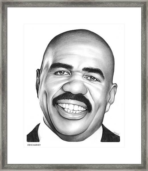 Steve Harvey Framed Print