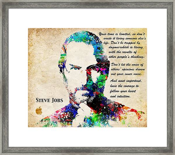 Steve Jobs Portrait Framed Print