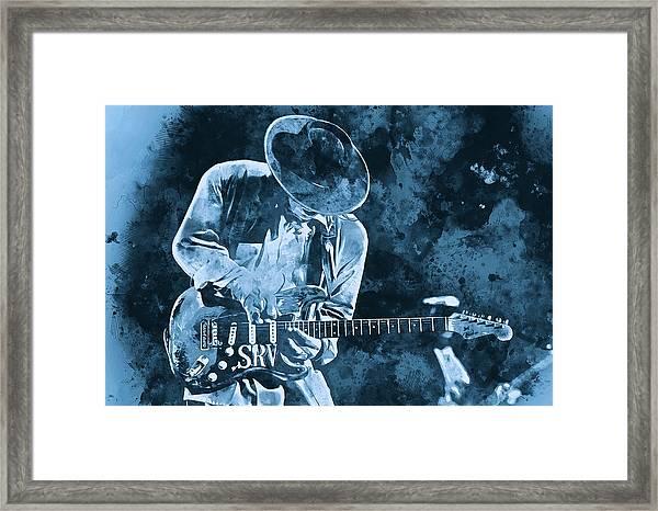 Stevie Ray Vaughan - 12 Framed Print