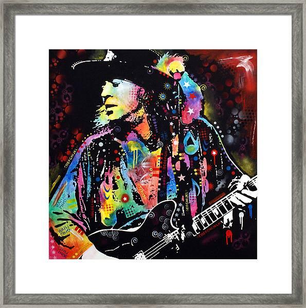 Stevie Ray Vaughan Framed Print